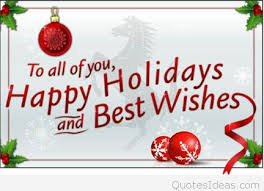 best wishes happy winter holidays for friends family