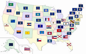 Map Of The United States And Mexico by Flags Of The U S States And Territories Wikipedia