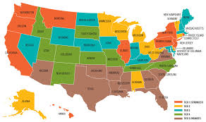 50 State Map by How Strong Are Us Teacher Unions Map Wade Rathke Chief