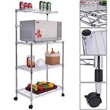 Bakers Rack Amazon Amazon Com Giantex 3 Tier Kitchen Baker U0027s Rack Microwave Oven