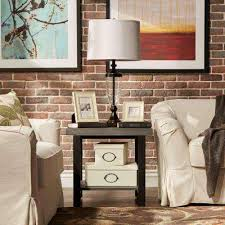Living Room Accent Table Gray Rustic Accent Tables Living Room Furniture The Home Depot