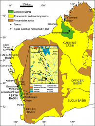 Australian Map Of The World by Map Of Western Australia Showing The Distribution Of Phanerozoic