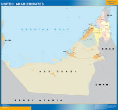 United Arab Emirates Map Our United Arab Emirates Wall Map Wall Maps Mapmakers Offers