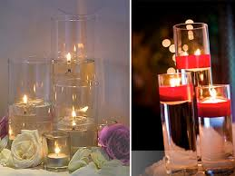 Vases With Floating Candles Things To Know Before Using Candles For The Wedding Buffet Table
