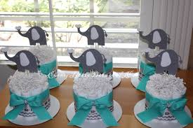 baby boy centerpieces elephant mini cake bundle elephant theme cake