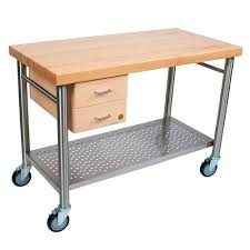 Kitchen Cart With Drawers by Kitchen Carts Cucina Magnifico Maple Top With 2 Dovetailed