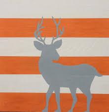 large hand painted woodland deer art sweetbananasart