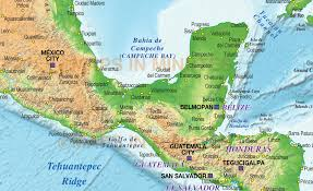 Map De Central America by Caribbean Map With Land And Ocean Floor Relief 10m Scale In