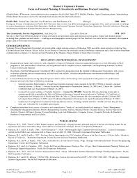 Functional Resume Sample by Espinosas Functional Resume Financial Planning U0026amp Investments An U2026