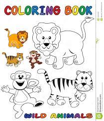 wild animals coloring book royalty free stock photos image