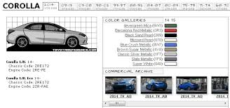 toyota corolla touchup paint codes image galleries brochure and