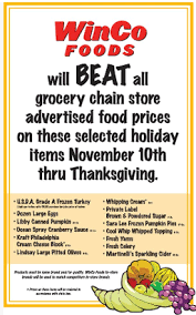 winco guaranteed lowest price on turkey thanksgiving food