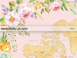 Baffin Bay On World Map by Printable Floral World Map With Countries And States Labelled