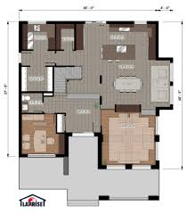 Plan Maison Fonctionnelle by Designer Zen Contemporain Lap0528 Maison Laprise Maisons