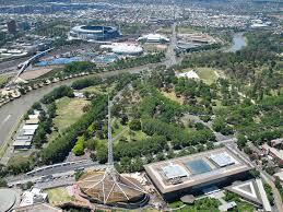 Melb Botanical Gardens by Mcg Royal Botanic Gardens U0026 Ferris Wheel From Eureka Skyd U2026 Flickr