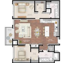 3 floor plan mill u0026 main luxury apartments floor plans