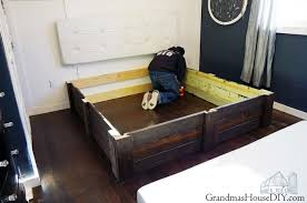 Platform Bed Frame Diy by Build Your Own Platform Bed Frame Diy Grandmas House Diy