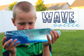 wave bottle for kids a and a glue gun