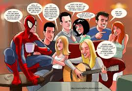 Friends Show Meme - spider man and his amazing f r i e n d s crossover know your meme