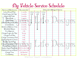 Vehicle Maintenance Sheet Template Car Schedule Printable Editable Service Log Home Binder