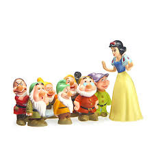 shop 8pcs set snow white and the seven dwarfs 7 ornaments