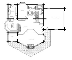 small cabin home plan with open living floor arresting rustic