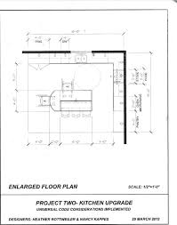 2nd draft kitchen floor plan for other client kitchen universal