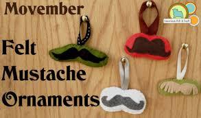 mustache american felt craft