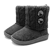 black sweater boots stepping stones toddler faux suede button sweater boots in black