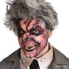 Zombie Halloween Costumes Party Gory Zombie Makeup Party