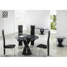 black glass kitchen table cheap giomani twin twirl round glass dining table and chairs for