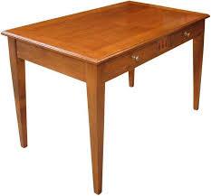 bureau en merisier table bureau chêne ou merisier massif collection directoire
