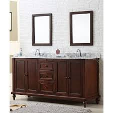 Espresso Double Vanity Direct Vanity 70 Inch Classic Dark Brown Double Vanity Cabinet 70