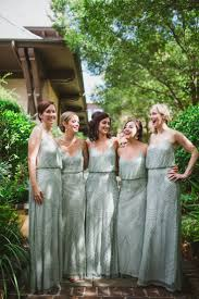 mint adrianna papell bridesmaid dresses wedding colors