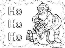 santa claus christmas coloring place mat printable