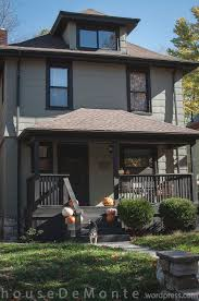 stylish light brown house exterior paint idea with roof tile white