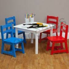 Kids Table And Chairs With Storage 3 Piece Table And Chair Set White 29 00 Table Size 60cm W X