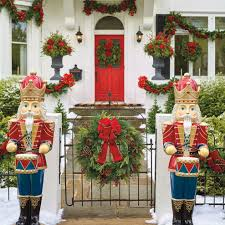 Outside Decorations For Christmas Formal Outdoor Lights House by Outdoor Christmas Decor Outdoor Christmas Displays Frontgate