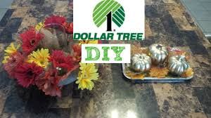 dollar tree fall diy centerpieces youtube