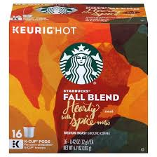 starbucks fall blend hearty with spice notes medium roast coffee