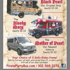 fan van party bus black pearl pirate party bus local business bethany beach
