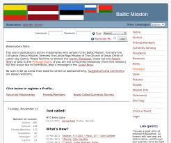 alumni website software an alumni website for the baltic lds mission baltic mission