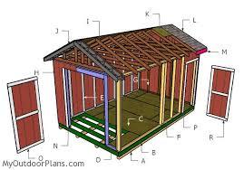10x16 garden shed plans myoutdoorplans free woodworking plans