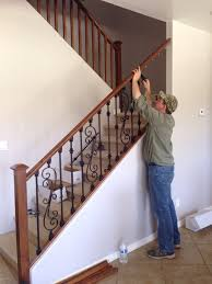 Replacement Stair Banisters Eli Replacing Wood Stair Spindles With Wrought Iron Ones Yelp
