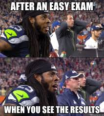 Sherman Meme - after an easy exam when you see the results heartbroken sherman