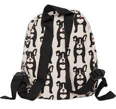 bungalow360 new womens black dog canvas travel satchel