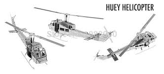 diy huey helicopter 3d three dimensional nanometal miniature