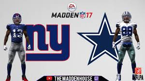 dallas cowboys thanksgiving jersey madden 17 ps4 week 1 prediction new york giants dallas