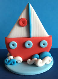 boat cake topper edible 3d fondant sailing boat cake topper suits nautical