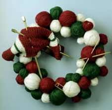 knit christmas knit christmas wreath patterns free grandmother s pattern book